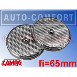 Światła odblaskowe białe fi-65mm na wkręty - 20524 - Lampa SpA