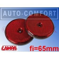 Światła odblaskowe czerwone fi-65mm na wkręty - 20525 - Lampa SpA