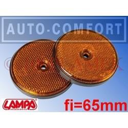 Światła odblaskowe pomarańczowe fi-65mm na wkręty - 20526 - Lampa SpA