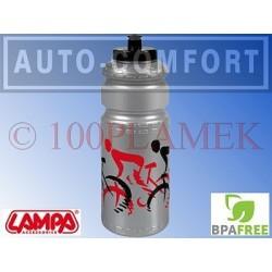 Srebrny rowerowy pojemnik na napoje, bidon - 93318 - Lampa SpA