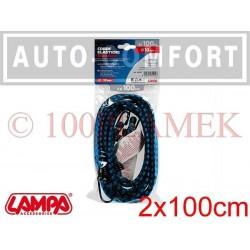 Linki elastyczne do mocowania bagażu 2x100cm - 60202 - Lampa SpA