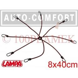 Linki elastyczne typu PAJĄK do mocowania bagażu 8x40cm - 60310 - Lampa SpA