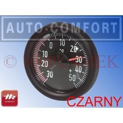 Termometr samochodowy okrągły, czarny A - 10010201 - Herbert Richter